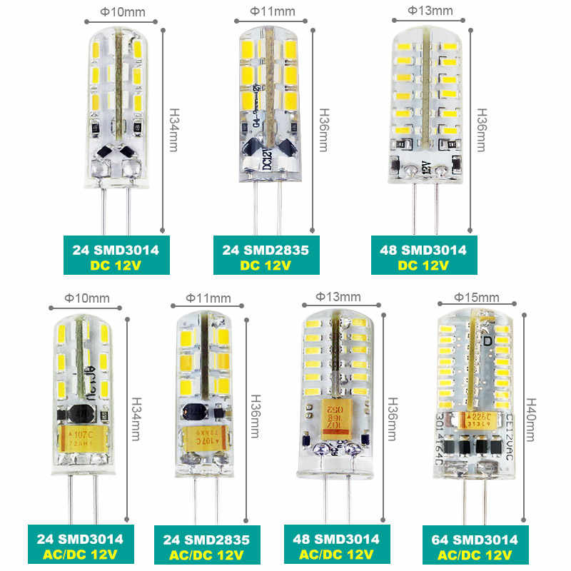 SonQin G4 Lamp Bulb AC/DC 12V 220V 3W 9W 12W 15W 21W SMD 3014 LED Lights replace 10-80W Halogen lamp free shipping