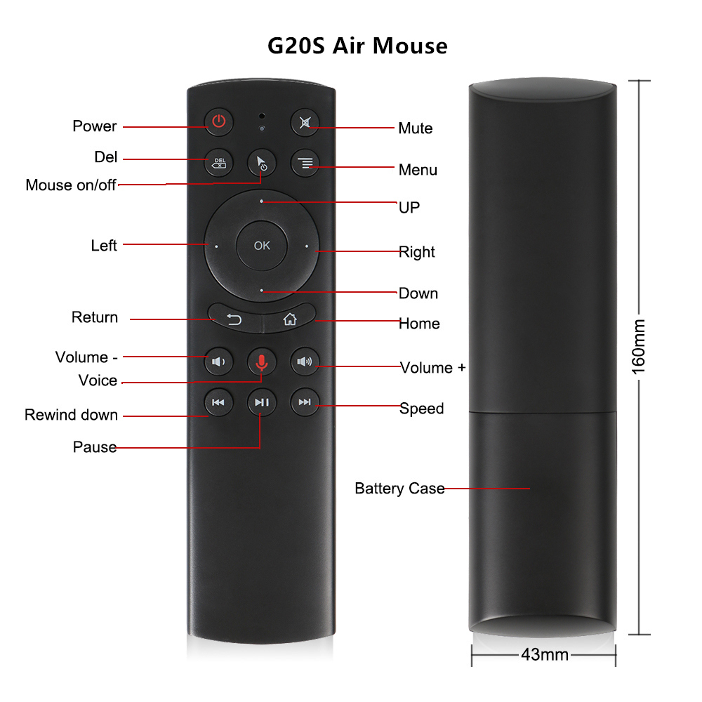 L8star G20S 2.4G Wireless Air Mouse Gyro Voice Control Sensing Universal Mini Keyboard Remote Control For PC Android TV Box 4
