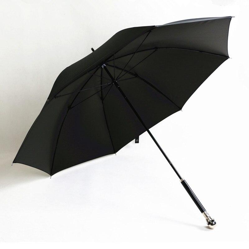 Man Umbrella Creative Style Metal Skull Head Punk Style Windproof Ultralight Sun