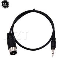 PZ 1 шт. 3,5 мм стерео гнездо Аудио кабель Din 5 Pin MIDI штекер Высокое качество 50 см 1 м 3 м для микрофона
