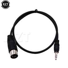 PZ 1pcs 3.5mm Stereo Jack Audio Cable Din 5 Pin MIDI Male Plug High Quality 50cm 1m 3m for Microphone