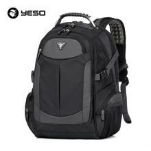 YESO Brand Laptop Backpack Men's Travel Backpacks Multifunction Rucksack Waterproof Oxford Black School Bags For Teenagers