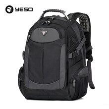 YESO Brand Laptop Backpack Men's Travel Backpacks Multifunction Rucksack Waterproof Oxford Black School Bags For Teenagers