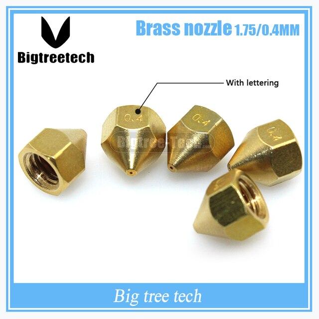 5ピース新しいノズルtiertimeアップ用3dプリンターアクセサリー付き1.75/0.4ミリメートル銅用品真鍮ノズル3D0258