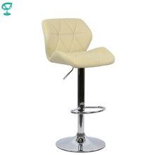 94968 Barneo N-85 эко-кожа кухонный барный стул с мягким сиденьем на газ-лифте цвет бежевый мебель для кухни кресло для нейл бара высокий стул для барной стойки мебель в Казахстан по России