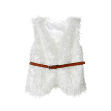 Fashion Newborn Kids Faux Fur Gilet Waistcoat Baby Girl Coat Jacket Warm Vest Outwear canis toddler baby girl kids clothes winter faux fur waist gilet jacket outwear vest coat baby girls jackets winter coats warm