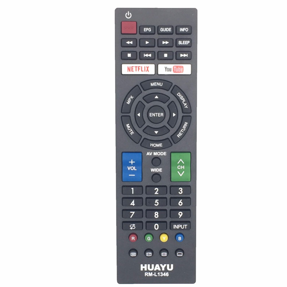 RM-L1346 Remote Control For Sharp TV With YouTube/NETFLIXE buttons
