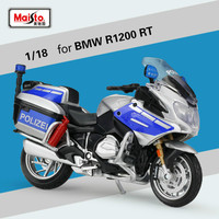 Maisto 1:18 R1200 Political Car Motorcycle Model for B.MW Simulation Alloy Motorbike Motor Car Model Gift Collection Ornaments
