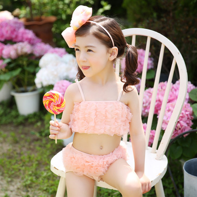 2017 Korean children swimwear baby girl children baby swimsuit swimsuit hot springs swim ...