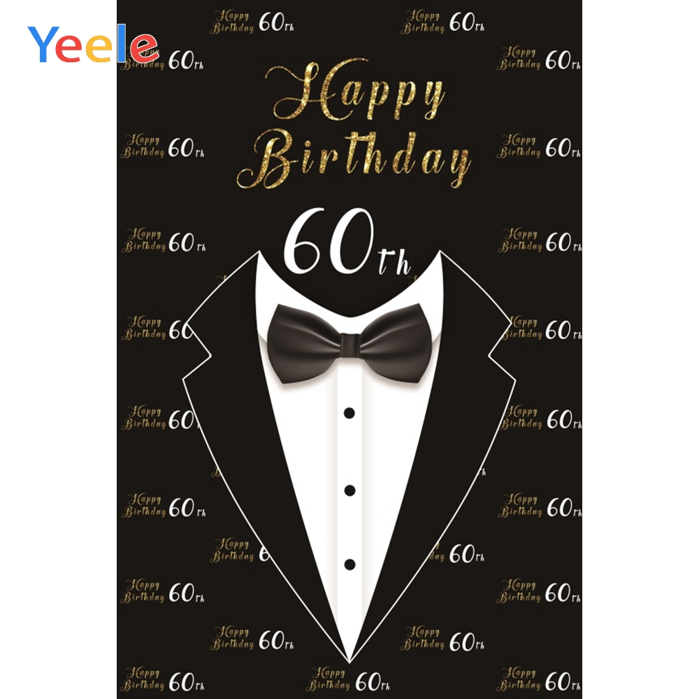 Yeele Vinyl 60th Birthday Party Suit Tie Photography Background Man Photographic Backdrop For Photo Studio in Background from Consumer Electronics