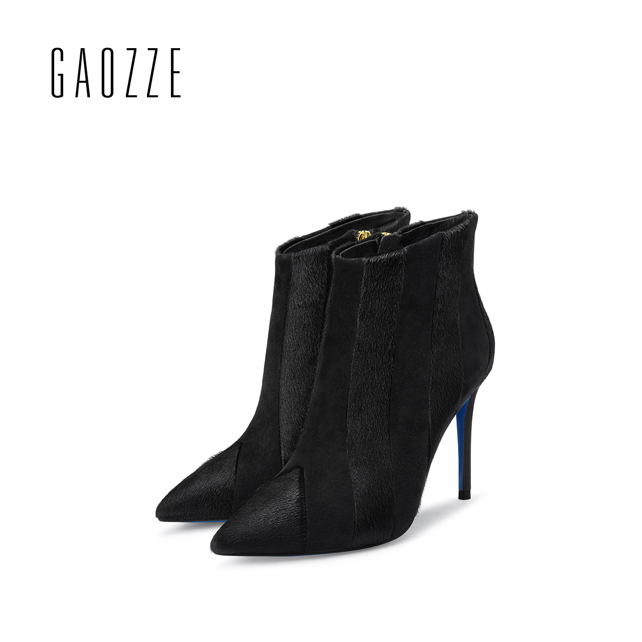GAOZZE genuine leather boots women pointed toe sexy thin high-heeled boots female side zipper women ankle boots 2017 autumn new ang 90 магнит сказочные мотыльки 10х10