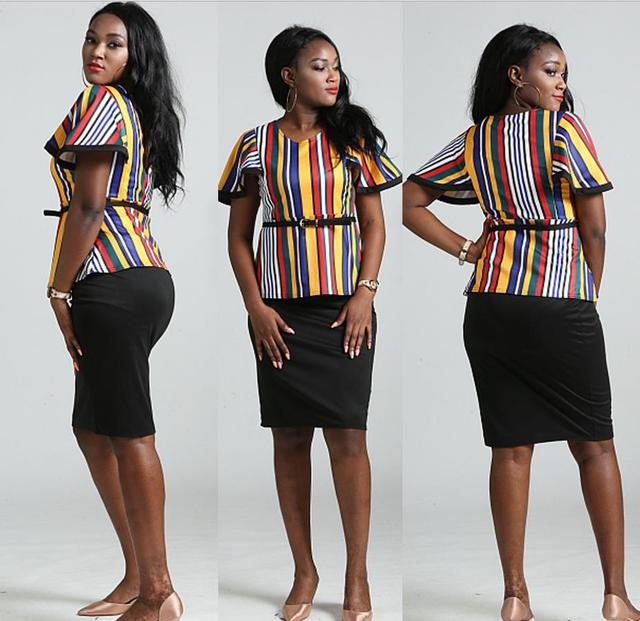 7fe491351e US $16.55 | dresses 2018 african clothes south african women printing tops  skirt two 2 piece set beautiful cheap dress short sleeve-in Africa Clothing  ...