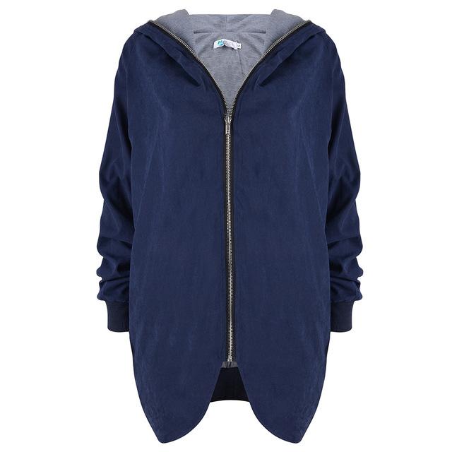2016 nuevo llega el gran tamaño de la mujer abrigos de manga larga de comercio exterior cazadora plus size 5XL chaqueta femenina 8121