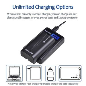 Image 5 - 2Pcs 2600mAhNP F550 NP F550 NPF550 Rechargeable Li ion batteries&LCD  USB Charger for Sony NP F530 NP F570 NP F730 NP F750 Hi 8