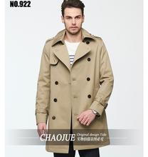 European and American Men's Leisure Lapel Trench Coat New Spring Autumn Men's Slim Outwear Men Clothing ! free shipping