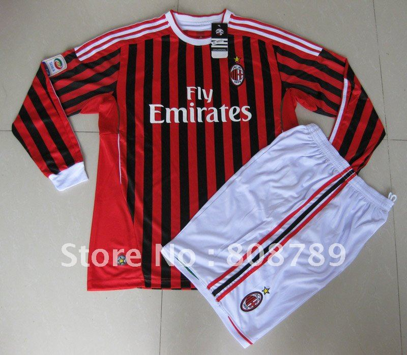 size 40 deec5 b99ea 1pcs top quality 2011 12 AC Milan home red 11# IBRAHIMOVIC ...
