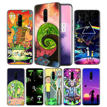 Rick And Morty Soft Black Silicone Case Cover for OnePlus 6 6T 7 Pro 5G Ultra-thin TPU Phone Back Protective