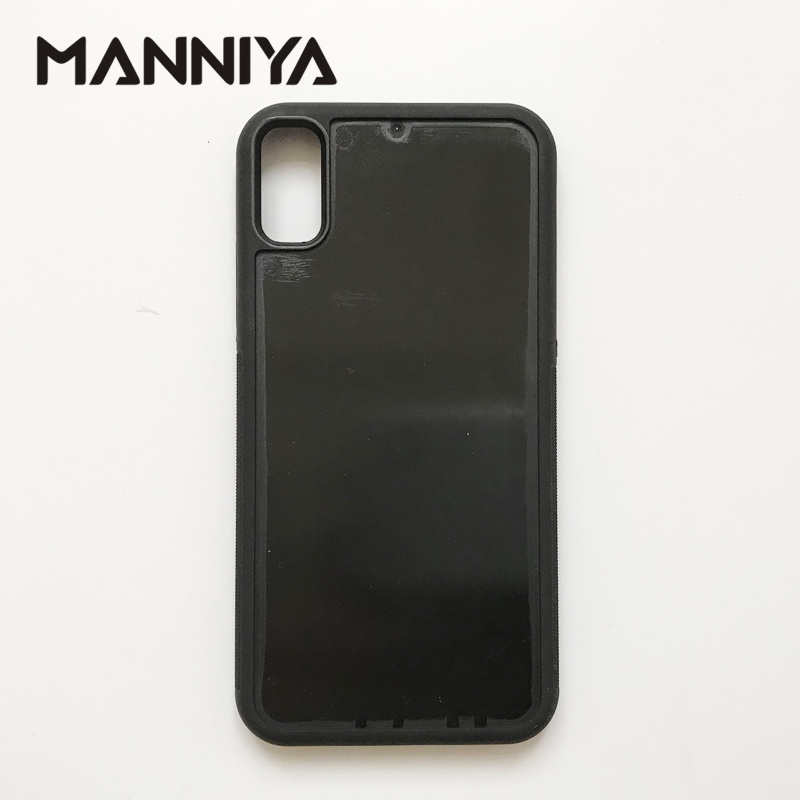 MANNIYA DIY empty groove rubber TPU PC phone Case for iphone X XS without inserts Free