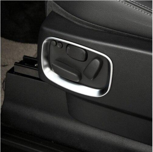 2 pièces Chrome Côté Voiture Siège Réglage Garniture de Cadre Autocollant Pour Landrover Range Rover Sport RR Sport 2010-2013 Accessoires de voiture