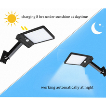 48 LED Solar Light 3 Mode Waterproof Outdoor remote control rotate bracket solar street light Garden Wall Fence desk lamp newest winner official military automatic watch men top brand luxury 3d skeleton mechanical watches metal strap chic relogio masculino