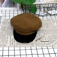Spring and autumn new women's beret personality hat female retro street newsboy beret women's wool fashion sailor visor MZ 24