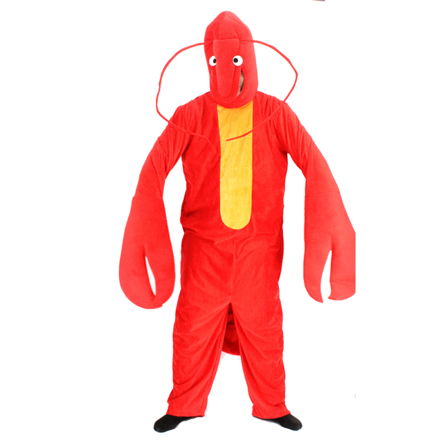 High Quality Unisex Adult Kugurumi Pajamas Red Lobster Anime Cosplay Costume Halloween Party Cosplay Clothes for Adult Women Men