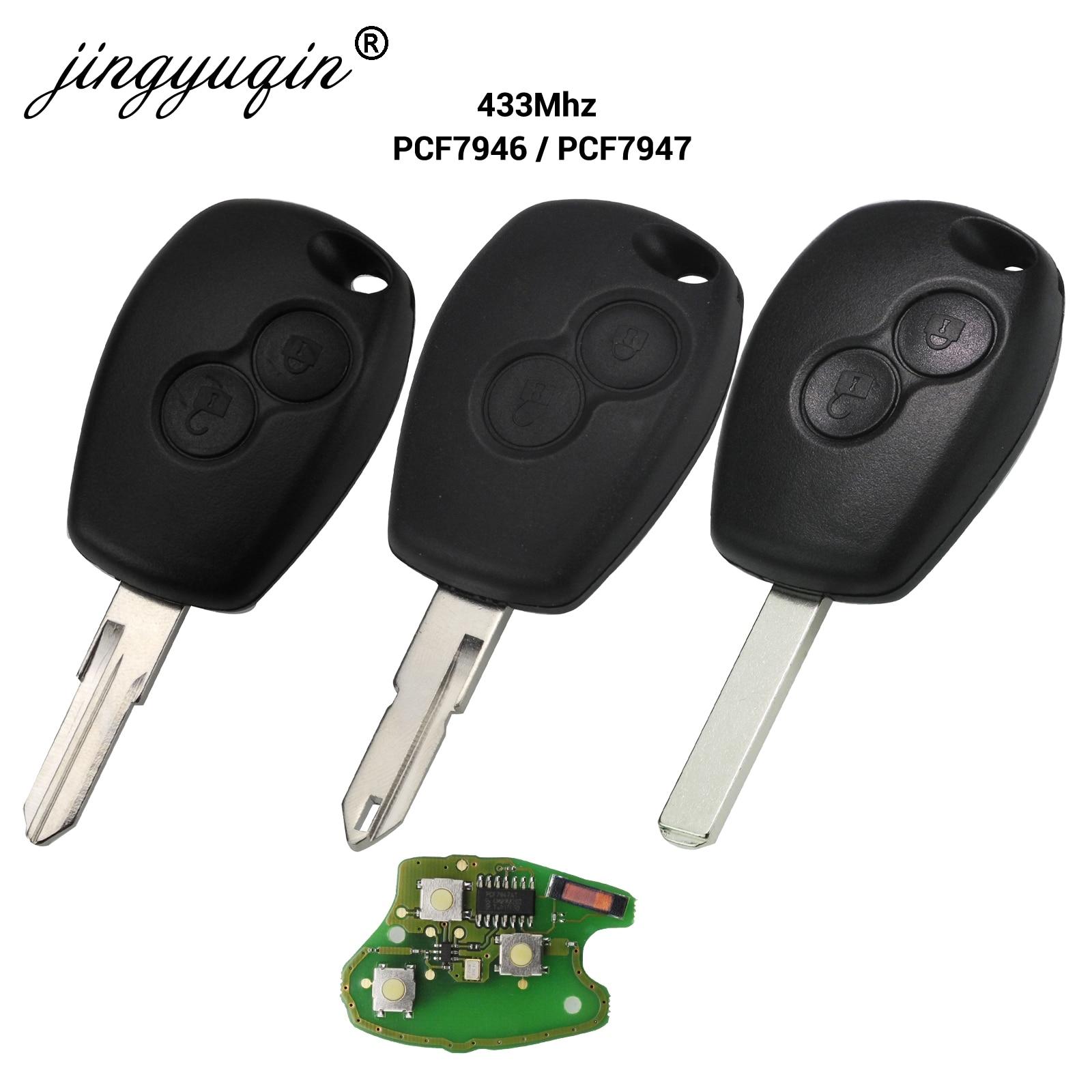 10x 2 Button Remote Car Key For Renault Duster Modus Clio 3 Twingo DACIA Logan Sandero