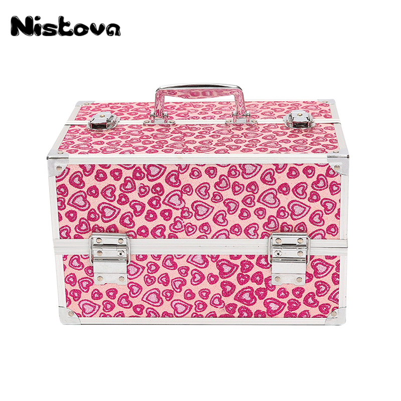 Portable Cosmetic Bag Suitcases Makeup Beauty Professional Cosmetic Storage Kit Cosmetology Tattoo Eyebrow Manicure Case Box professional cosmetic bag portable large capacity manicure beauty storage box cosmetic case waterproof lovely the new travel