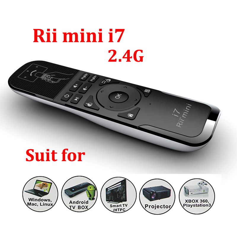 ed8748f1b97 Original Mini Fly Air Mouse Rii i7 2.4G Wireless Remote Combo Builtin 6  Axis for PC/Android Tv Box/X360/PS3 Motion Sensing Games-in Mice from  Computer ...