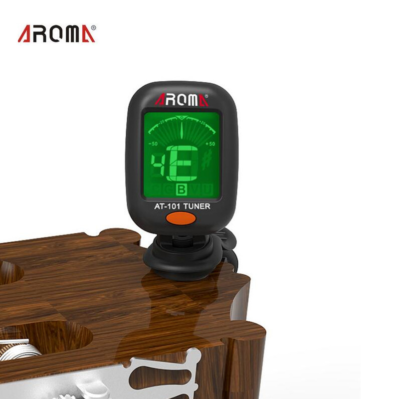 AROMA AT101 360  Mini LCD Clip Tuner Chromatic Clip-On Digital Tuner For Acoustic Electric Guitar Bass Violin Ukulele lt 33 electronic piezo clip on chromatic tuner guitar bass ukulele violin chromatic tuner for musical instrument accessories