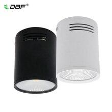 [DBF] высокояркий Epistar COB светодиодный потолочный светильник с регулируемой яркостью 3W 5 Вт 7 Вт 10 Вт 12 Вт 15 Вт белый/черный корпус