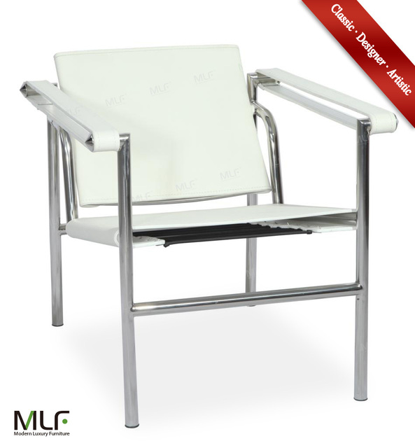 MLF Le Corbusier LC1 Basculant Sling Chair. Backrest Movable, Seat  Adjustable. White Saddle