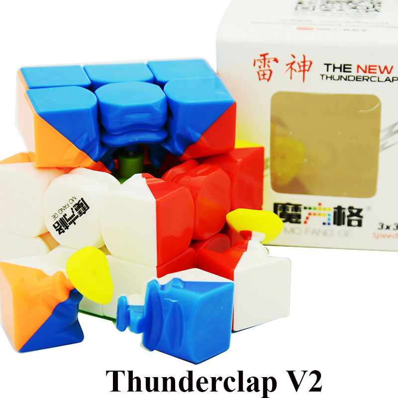 цена QiYi Thunderclap 3x3x3 Black 3Layer Mofangge Qiyi 5.7cm 3layer Thunderclap V2 Stickerless QiYi Valk 3 Black Magic Cube онлайн в 2017 году