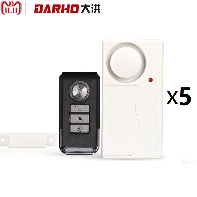 Darho Home Security Door Window Siren Magnetic Sensor Alarm Warning System Wireless Remote Control Door Detector Burglar Alarm 10pcs home security wireless window door magnetic sensor alarm warning system open detector wl 19bwt fuli