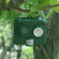Bird Repeller Solar Acousto Optic Deterrent Ultrasonic Wave Birds Pest Repellent Hogard