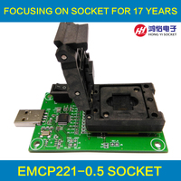 Clamshell Structure EMCP221 Reader To USB For BGA 221 Testing Size 11 5x13mm Nand Flash