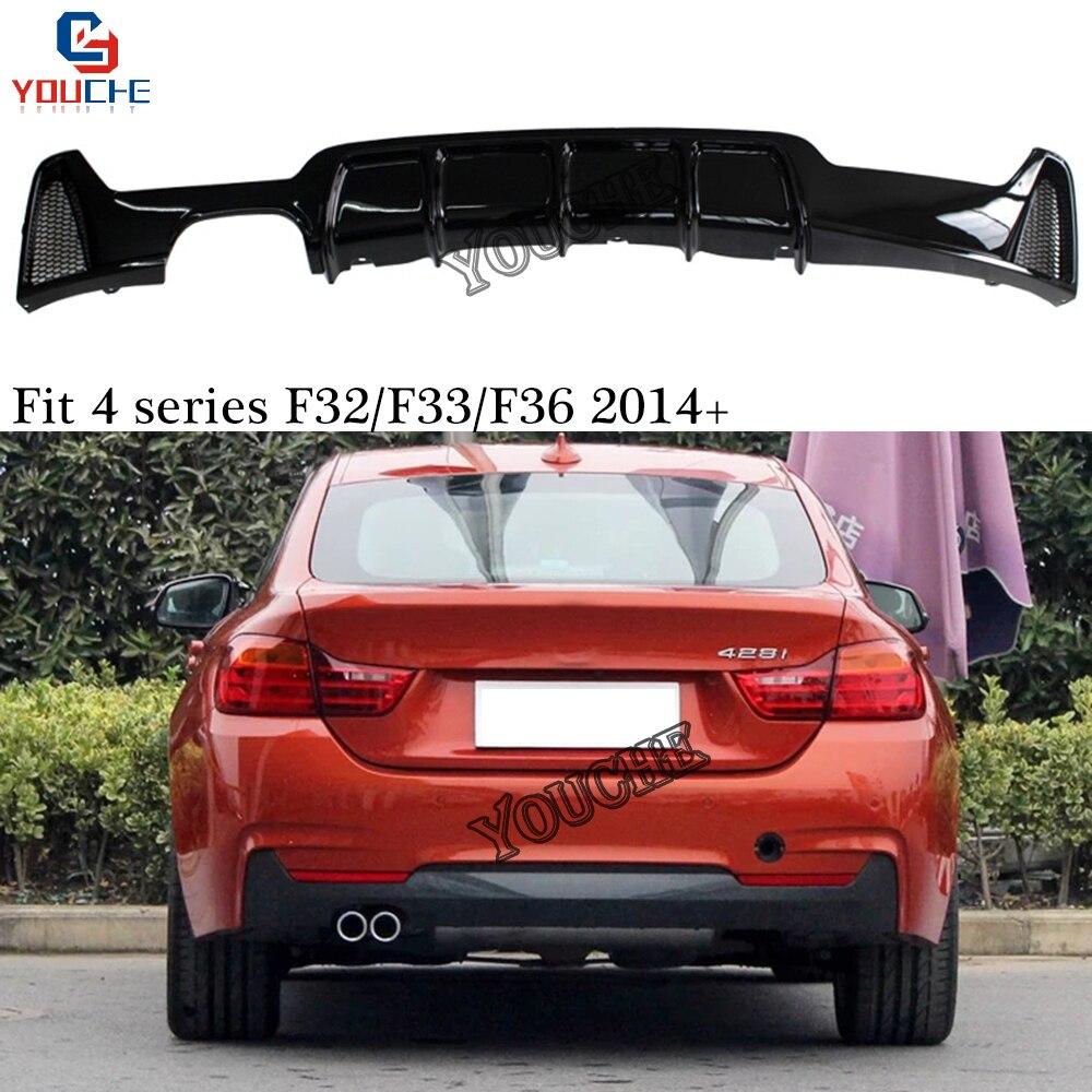 Rear Bumper Diffuser Rear Lip Spoiler Splitter for BMW 4 Series F32 F33 F36 with M
