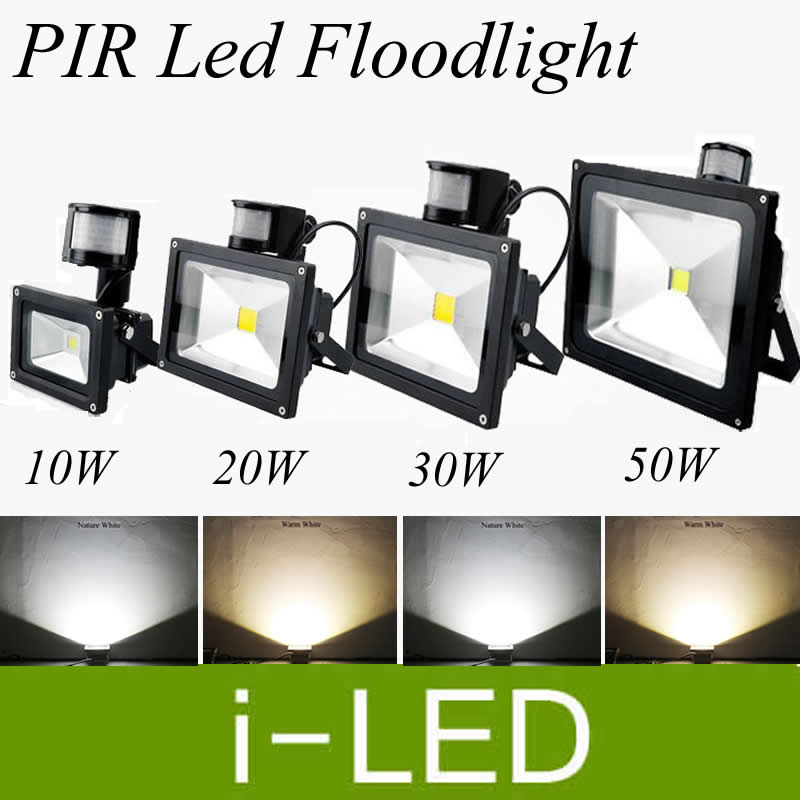 Bright Pir Motion Sensor Led Floodlight 10w 20w 30w 50w Outdoor Led Landscape Flood Lights Lamp Ac85-265v Warm Cold White Ul Ce&rohs Floodlights