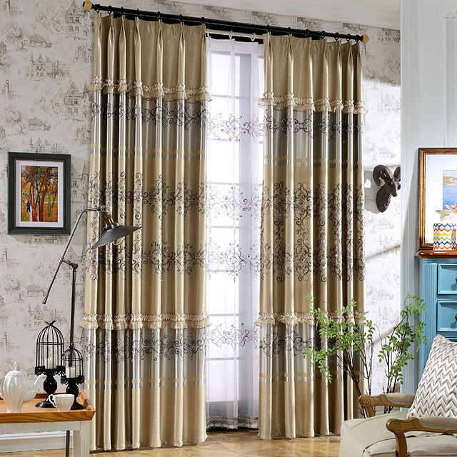 Buy 2017 new curtains for living dining room bedroom european style window - Latest curtain designs for windows ...