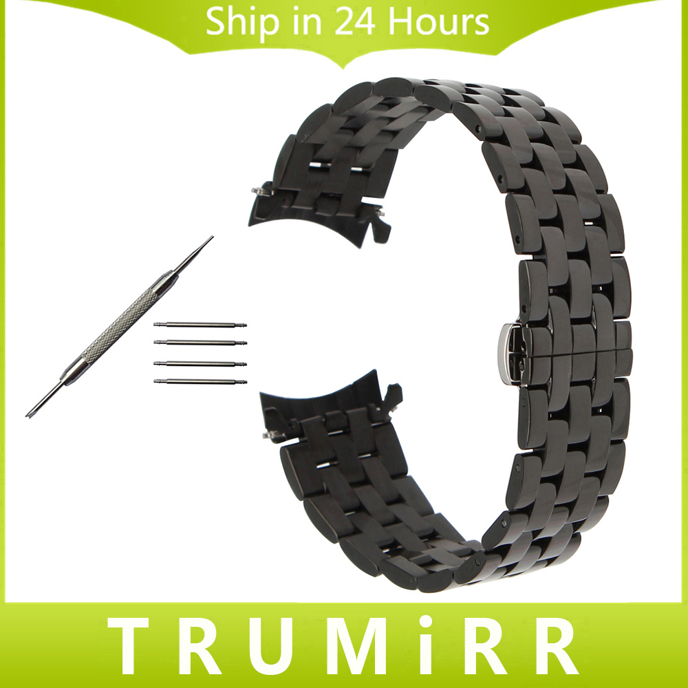 Curved End Stainless Steel Watchband for Oris Men Women Watch Band Wrist Strap Butterfly Clasp Belt Bracelet 18mm 20mm 22mm 24mm silicone rubber watchband 19mm 20mm 21mm 22mm 23mm 26mm for seiko men women watch band stainless steel buckle wrist strap black