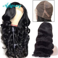 Pre Plucked Full Lace Human Hair Wigs Remy Brazilian Body Wave Wig Full Lace Wigs with Baby Hair Bleached Knots Ashimary