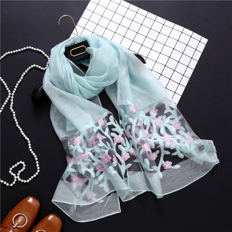 LaMaxaPa 2018 New Fashion Summer/Autumn Flower Print Women/Lady Scarf Thin Shawls And Wraps Long Female Echarpe 190*70CM
