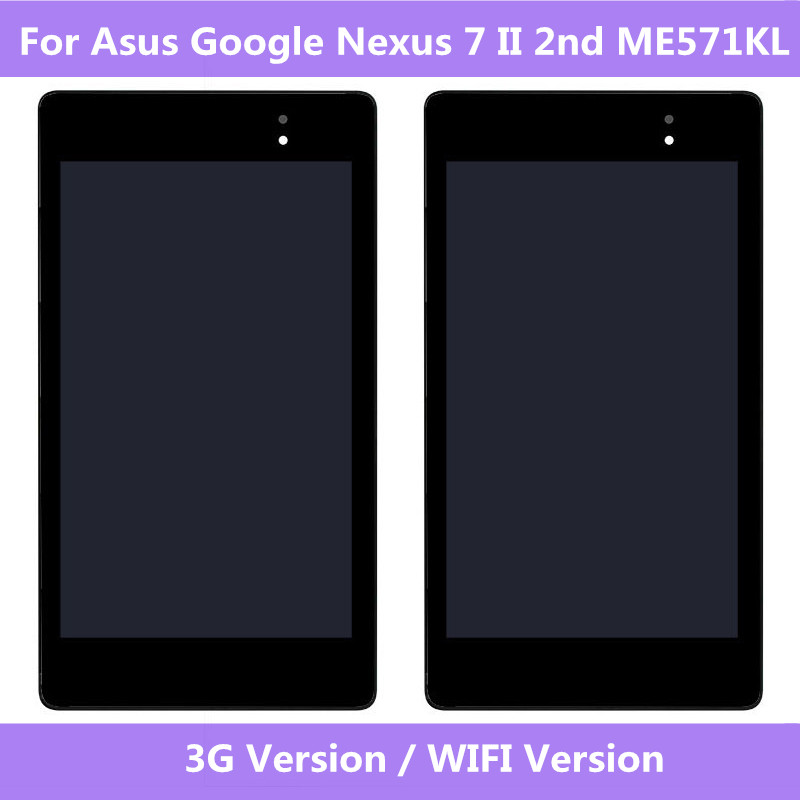 ASUS Original Screen LCD Display Touch Screen Digitizer Assembly For Asus Google Nexus 7 II 2nd 2013 ME571KL 3G Wifi Version