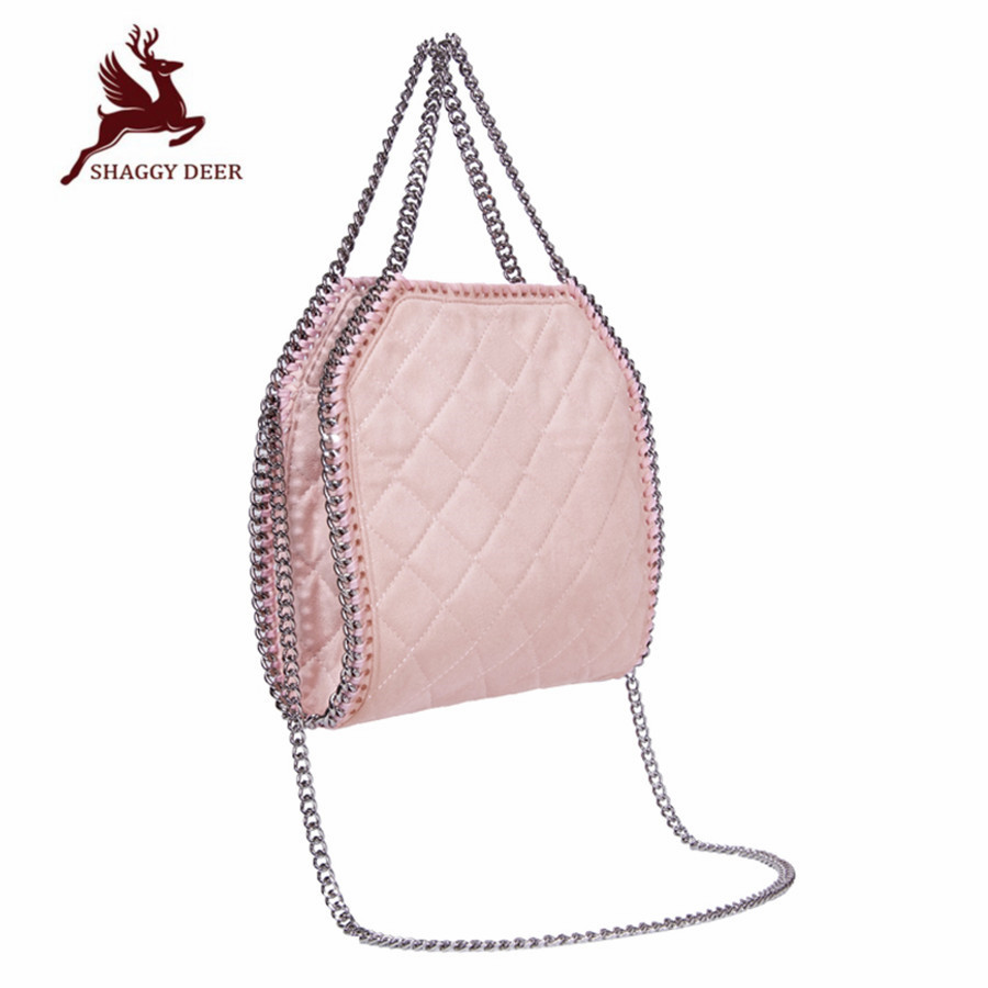2017 Brand New Shaggy Deer Luxury Crossbody star Chain Bag Hasp Fold-Over Sew Quilted AAA PVC Quality Women Shoulder Bag new high quality pvc shaggy deer mini mobile phone key purse flap bag simple luxury crossbody zip pocket stella chain bag