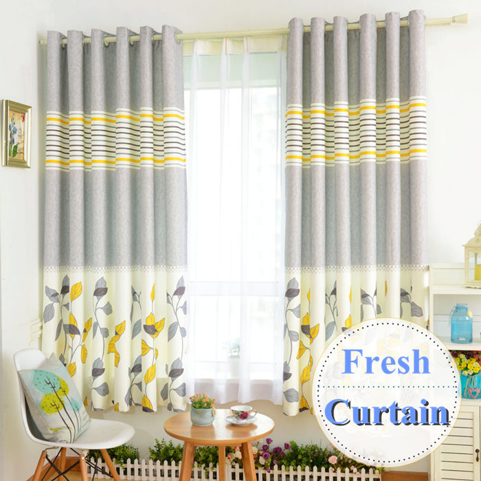 Brief modern rustic curtains for living room pastoral print finished short blackout curtain princess bedroom cortinas 2pcs/lot