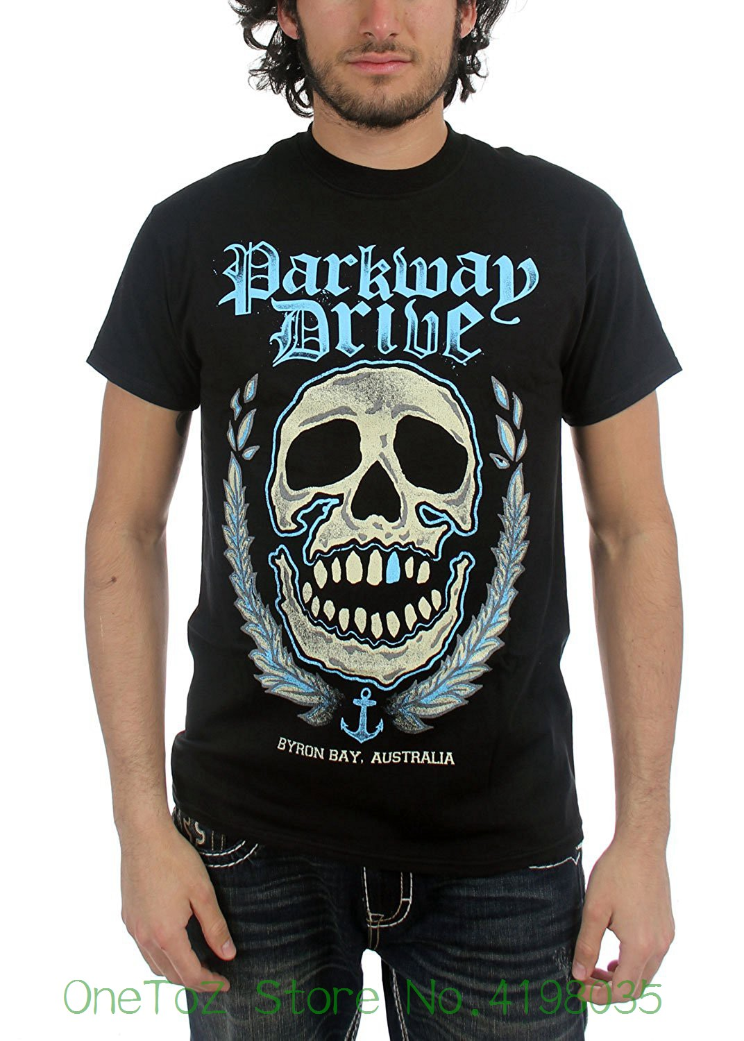 Authentic Byron Bay Skull Logo T-shirt S M L Xl Metalcore New Mens O-neck Printed Tee Shirt