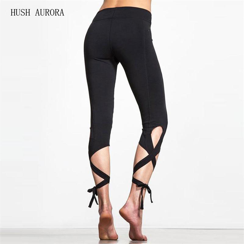 Hot Sale Summer New Fashion Twist Pants Fitness Pants Dance Ballet   Leggings   Solid Pants For Women 2-Color