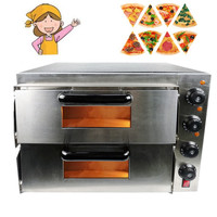 Home Use 3000W Stainless Steel Commercial Electric Pizza Oven With Timer 2 Layer Making Bread Pizza Cake Baking Oven