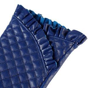 Image 5 - قفازات النساء ، جلد طبيعي ، بطانة القطن ، قفازات جلدية زرقاء ، قفازات جلدية للنساء ، قفازات الإناث