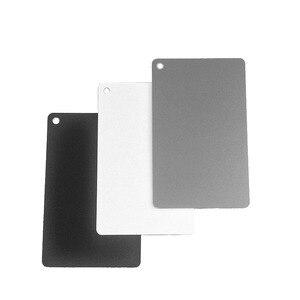 Image 4 - 3 en 1 blanc noir 18% gris couleur Balance cartes numérique gris carte avec sangle de cou pour appareil photo reflex numérique P0.3 8.5X5.5cm
